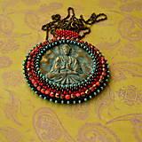 Náhrdelníky - Medallion with Buddha - 8799901_