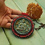 Náhrdelníky - Medallion with Buddha - 8799902_