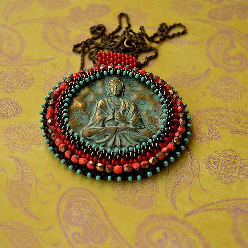 Medallion with Buddha