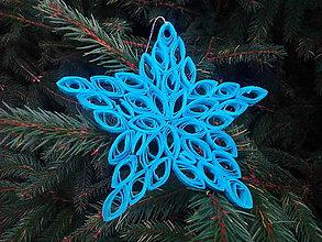 Dekorácie - Vianočná ozdoba - hviezda - 8804579_