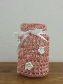 Dekorácie - Ružové šatôčky s bielymi kvietkami - 8799818_