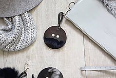 Kľúčenky - Kožený prívesok-VINCO-SMALL -čierna - 8803200_