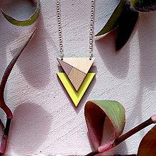 Náhrdelníky - Drevený náhrdelník Neon - 8800888_