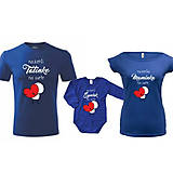 Tričká - Najlepšia rodinka na svete - rodinná sada  (Set tričiek pre troch) - 8805398_