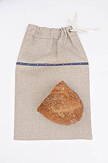 Úžitkový textil - Ľanové vrecko na chlebík - 8801105_