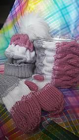 Čiapky - Dámsky zimný set - 8802381_