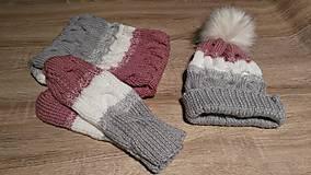 Čiapky - Dámsky zimný set - 8802992_