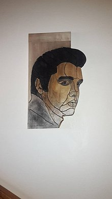 Obrazy - Portret Elvis Presley, obraz z dreva - 8801569_