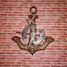 Dekorácie - Kotva s kormidlom 65 cm - 8804885_