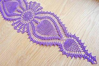 Úžitkový textil - Ananásiková štóla, fialová - 8803395_