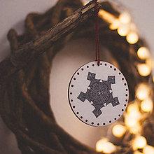 Dekorácie - Vianoce v Škandinávii (Vločka) - 8764580_