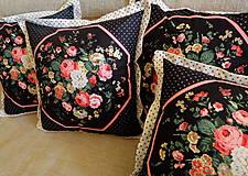 Úžitkový textil - Romantický dekoračný vankúš 40 cm - 8799835_