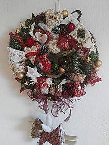 Dekorácie - Vianočný veniec - 8803900_