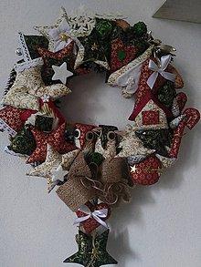 Dekorácie - Vianočný veniec - 8803970_