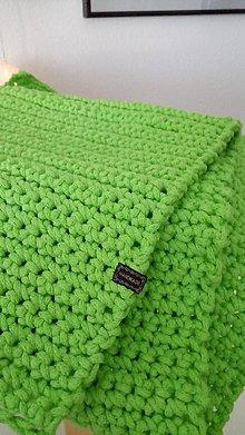 Úžitkový textil - Háčkovaný koberec - pistáciový - 8800302_