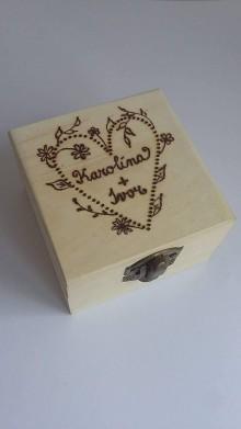 Iné doplnky - Krabička na svadobné prstienky-p - 8801605_