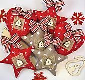 Dekorácie - Vianočné ozdôbky - červené a béžové - 8803856_