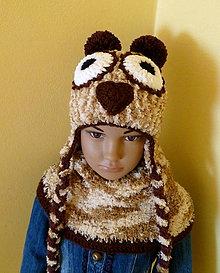 Detské čiapky - Sovickova coko hneda supravkaSKLADOM - 8804776_