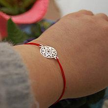 Náramky - Mandala ... náramek AG925 (Červená) - 8807101_