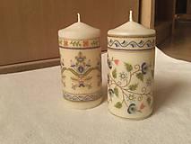 Svietidlá a sviečky - Sada dvoch sviečok. - 8807022_
