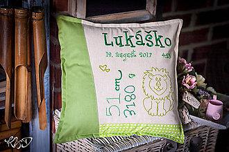 """Úžitkový textil - Vankúšik pre novorodenca """"Lukáško"""" - 8808698_"""