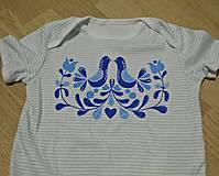 Detské oblečenie - folklór na tričku - 8810187_