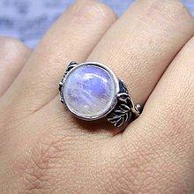 Prstene - Antique Leaves & Larimar Silver ag 925 / Strieborný prsteň s prírodnými motívmi a s larimarom - 8810277_