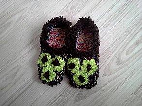 5f84f10289d27 Pletené papučky - vsuvky / vviera - SAShE.sk - Handmade Obuv