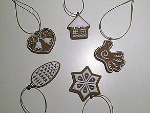 Polotovary - Vianočné ozdoby sada 5 ks - 8809671_