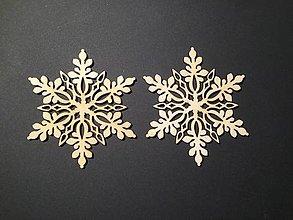 Polotovary - Vianočné ozdoby  : vločky snehové 2 ks - 8809738_