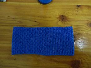 Ozdoby do vlasov - čelenka  modrá 10cm - 8810609_