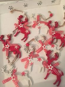 Iný materiál - Vianočné jelenčeky - 8807413_