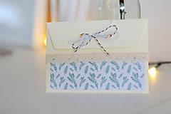 Papiernictvo - Scrapbook vianočná obálka na peniaze - 8809579_