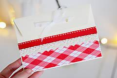 Papiernictvo - Scrapbook vianočná obálka na peniaze - 8809610_