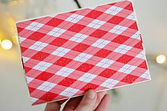 Papiernictvo - Scrapbook vianočná obálka na peniaze - 8809611_