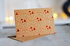 Papiernictvo - Vianočná pohľadnica Natur - 8809660_