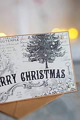 Papiernictvo - Vianočná pohľadnica Vintage - 8809675_