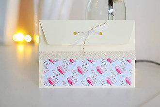 Papiernictvo - Scrapbook vianočná obálka na peniaze - 8809545_