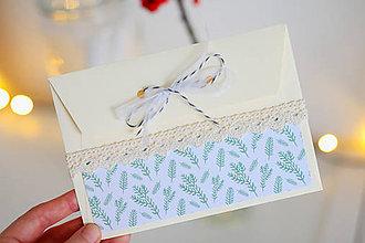Papiernictvo - Scrapbook vianočná obálka na peniaze - 8809580_