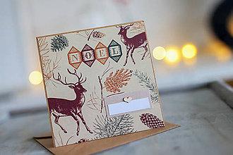 Papiernictvo - Vianočná pohľadnica Natur - 8809619_