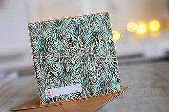 Papiernictvo - Vianočná pohľadnica - prírodná - 8809644_