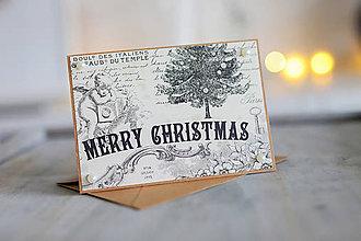Papiernictvo - Vianočná pohľadnica Vintage - 8809674_