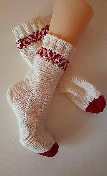 Obuv - Ponožky vlnené folklórne 3 - 8808019_