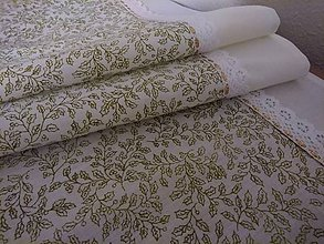 Úžitkový textil - Vianočná štóla zlatá cezmína - 8810563_