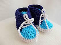 Topánočky - Háčkované tenisky - 8810641_
