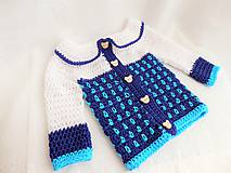 Detské oblečenie - Háčkovaný svetrík - 8810703_