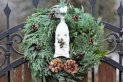 Dekorácie - Prírodný vianočný veniec - 8806920_