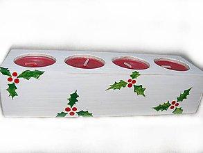 Svietidlá a sviečky - Maľovaný adventný svietnik Cezmína - 8808221_