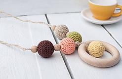 Náhrdelníky - Ráno - háčkovaný náhrdelník - 8806532_