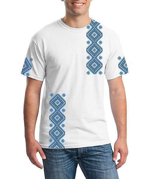 Tričko potlačené výšivkou 001